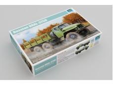 Trumpeter  蘇聯 URAL-375D 軍用卡車  01027 比例 1/35 需組裝黏著+上色 塑膠材質