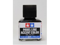 田宮 TAMIYA 黑色墨線液 模型專用 40ml PANEL LINE ACCENT COLOR (BLACK) NO.87131