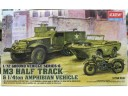 ACADEMY Ground Vehicle Series-6 M3 Half Track & 1/4ton Amphibian Vehicle 1/72 NO.13408