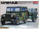 ACADEMY M151A2 HARD TOP & TRAILER 1/35 NO.13012