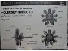 HASEGAWA 長谷川 CLERGET MODEL 9B Rotary Engine 1/8 NO.SP286/51986