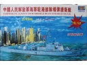 TRUMPETER 小號手 Chinese PLA navy new missile boat stioned in HK 電動馬達版 1/150 NO.03504