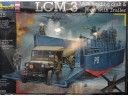 REVELL LCM 3 / 50ft landing craft & Jeep with Trailer 1/35 NO.03000