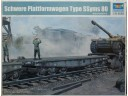 TRUMPETER 小號手 Schwere Plattformwagen Type SSyms 80 1/35 NO.00221
