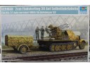 TRUMPETER 小號手 German 2cm Flakvierling 38 Auf Selbstfahrlafette (Sd.Kfz.7/1 late version) With Sd.Anhänger 52 1/35 NO.01524