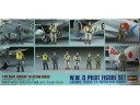 HASEGAWA 長谷川 WWII Pilot Figure Set Japanese, German, US/British 1/48 NO.X48-7/36007