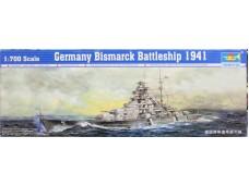 TRUMPETER 小號手 德國俾斯麥號戰列艦 1/700 NO.05711