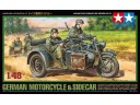 TAMIYA 比例 1/48 德國 德軍 邊車 摩托車 組裝模型 需黏著+上色 32578