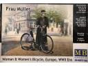 MB Woman & Women's Bicycle , Europe , WWII Era 婦女 腳踏車 比例 1/35 組裝模型 Master Box