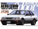 FUJIMI 1/24 ID61 TOYOTA AE86 LEVIN 2門 1600GT APEX 後期型 1985 富士美 035260