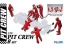FUJIMI 1/20 GT21 PIT CREW SET B F-1賽事維修區工作人員組 場景製作 富士美 112459