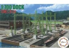 FUJIMI 1/700 特201 船塢ドック  付 乾塢鋼架結構、照明塔、滑車 蝕刻片 富士美 組裝模型 432359