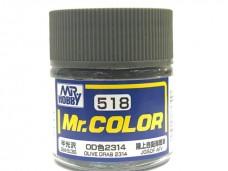 Gunze 油性 Olive Drab 2314 橄欖色  for 陸上自衛隊 日本 坦克 75%消光  硝基漆 10ml 模型專用漆 C518 郡是 Mr. COLOR