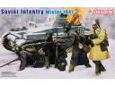 Dragon Soviet Infantry Winter 1941 比例 1/35 士兵  組裝模型 6744