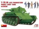 MiniArt SOVIET  LIGHT  TANK T-70M Late Prod. w/CREW 1/35 NO.35030