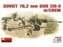 MiniArt SOVIET  76.2 mm DIV   FIELD  GUN  ZIS-3 w/CREW 1/35 NO.35032