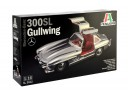 ITALERI 3612 - Scala 1/16  MERCEDES-BENZ BENZ300 300 SL 300SL SL300 GULLWING 組裝模型 需黏著+上色