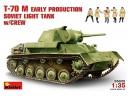 MiniArt T-70 M Early Production SOVIET  LIGHT  TANK  w/CREW NO.35025