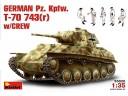 MiniArt GERMAN  Pz. Kpfw. T-70 743(r) w/CREW NO.35026